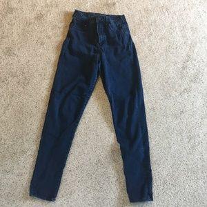 H&M High-Waisted Dark Denim Jeans